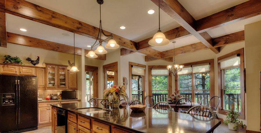 plan log home lighting before