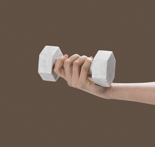 1 KG Marble Dumbell by Addition Studio