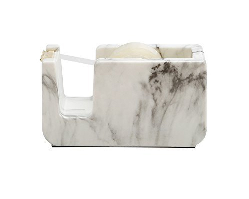 Faux white marble - adhesive tape holder