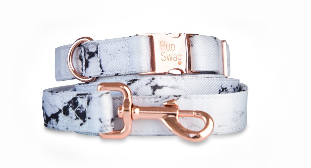 Luxe marble dog leash by Pup Swag