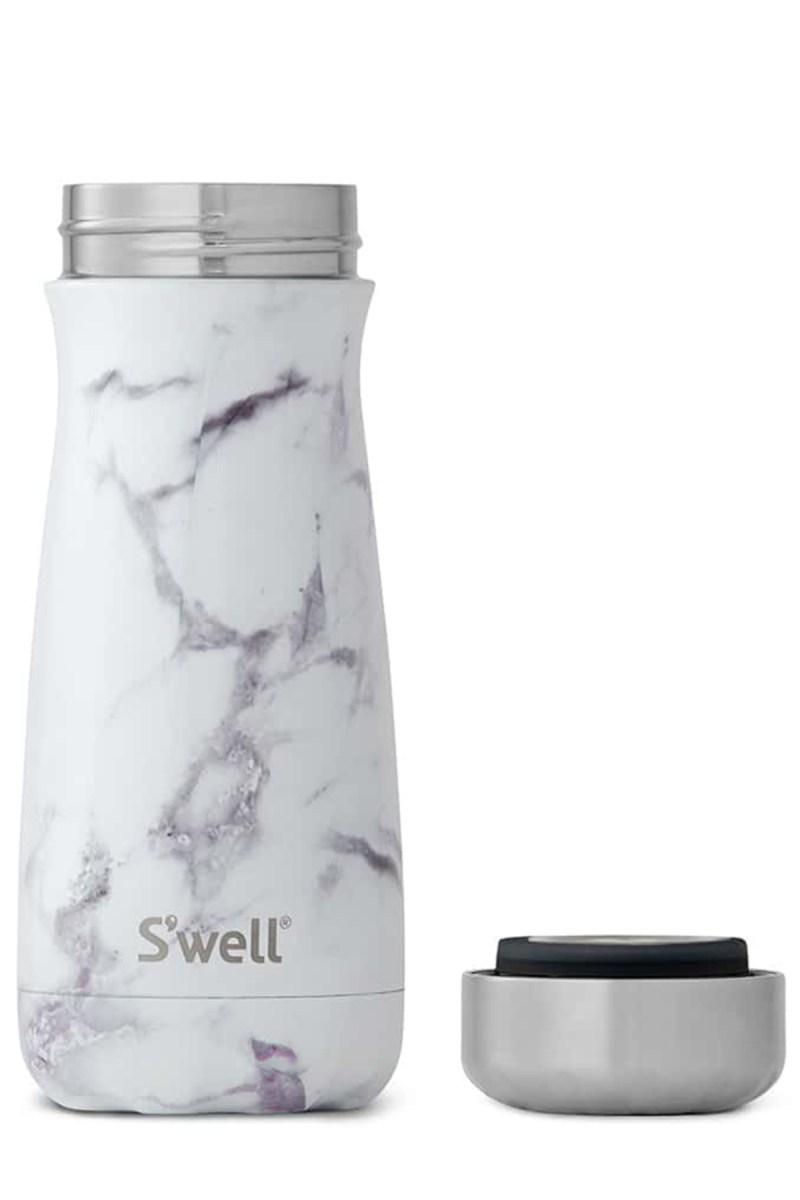 White marble traveller bottle by S'well