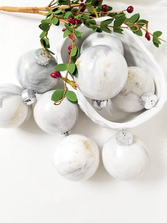 Marble baubles by Bissfull pefection