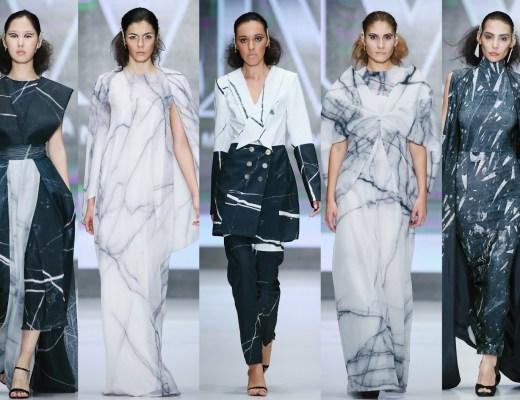 Madina Varisova marble inspired collection at Russia Fashion week - 2015