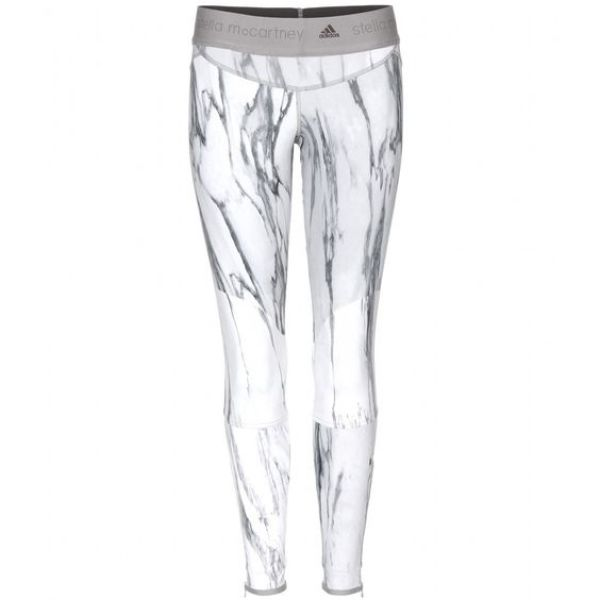 Carrara marble leggings by ADIDAS by Stella McCartney