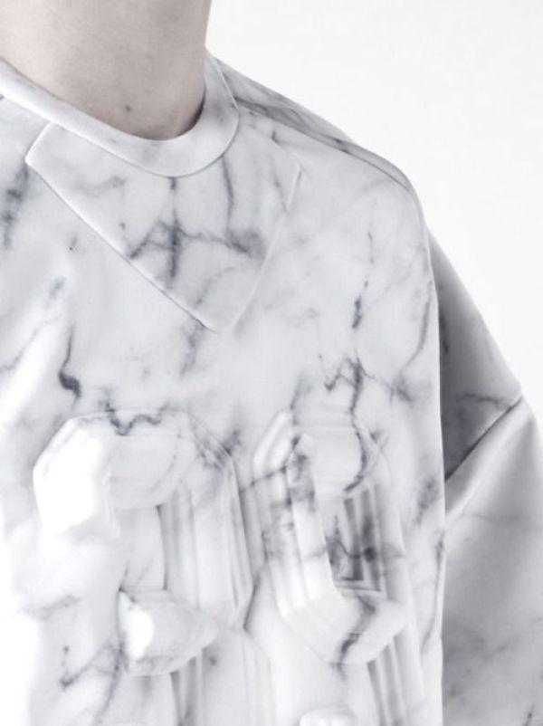 Junn J. marble print sweater - Spring/Summer 2014