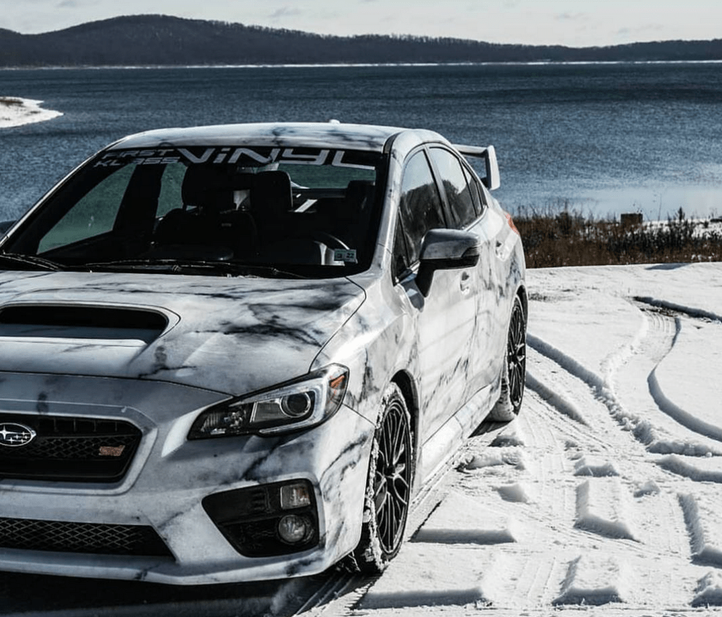 The marble car: Subaru WRX STI owned by Beck (from instagram: Justagirlwhodrivesstick)