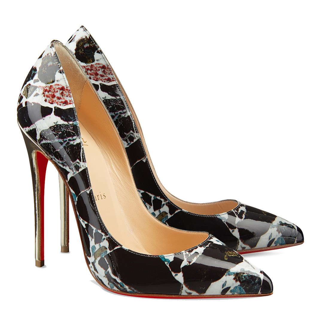 Pigalle Follies Carrara marble pumps by Christian Louboutin