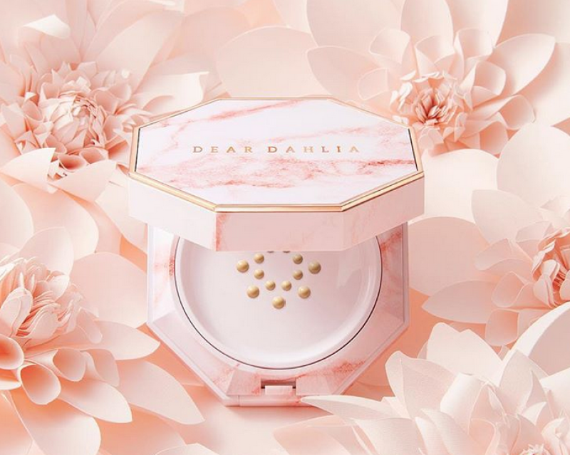 Coral Marble packaging for Dear Dhalia Moisture Cushion Foundation
