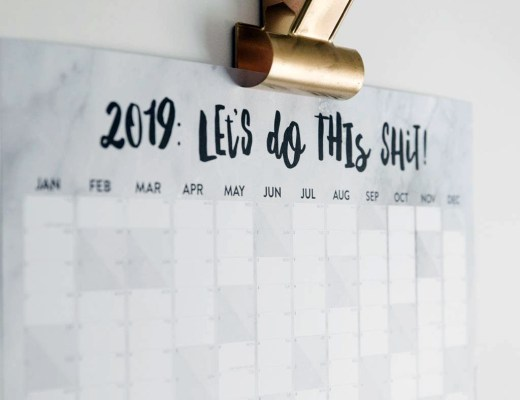 Marble wall planner by I AM NAT notonthehighstreet.com