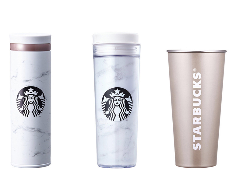 Starbucks Released Marble Tumblers And Coffe Mugs And