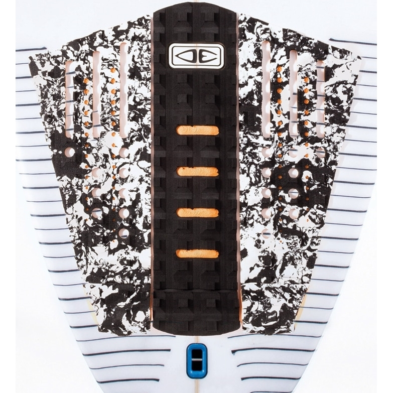 Ocean Earth Line Up Surfboard Tail Pad in White Marble print