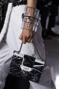Balmain leather marble handbag - 2019