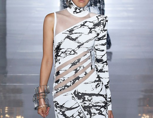Balmain Marble Intarsia-Knit Dress - summer 2019