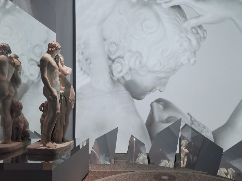 The myth of Love and Psyche and the Venus and Adonis original plaster model.