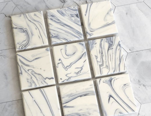 Carrara marble inspired soap bars handmade in Thailand by TandB Soap House