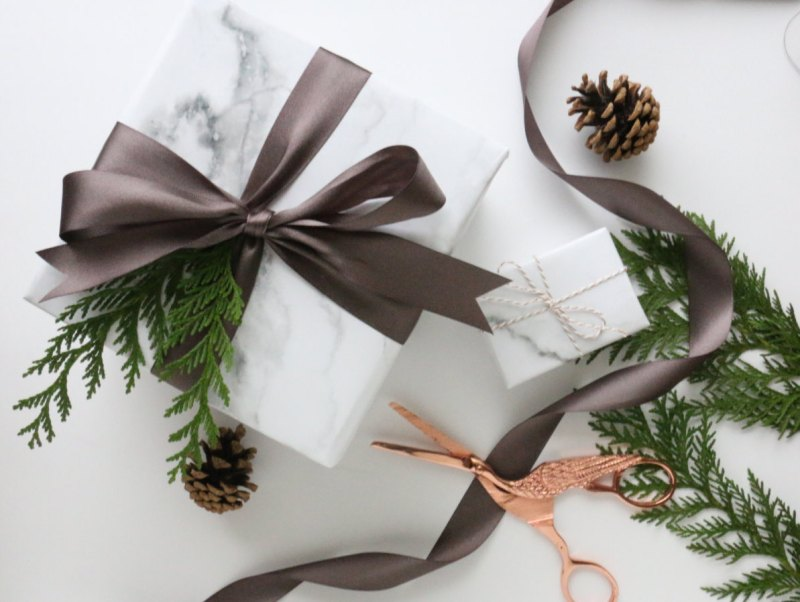 Carrara Marble wrapping paper