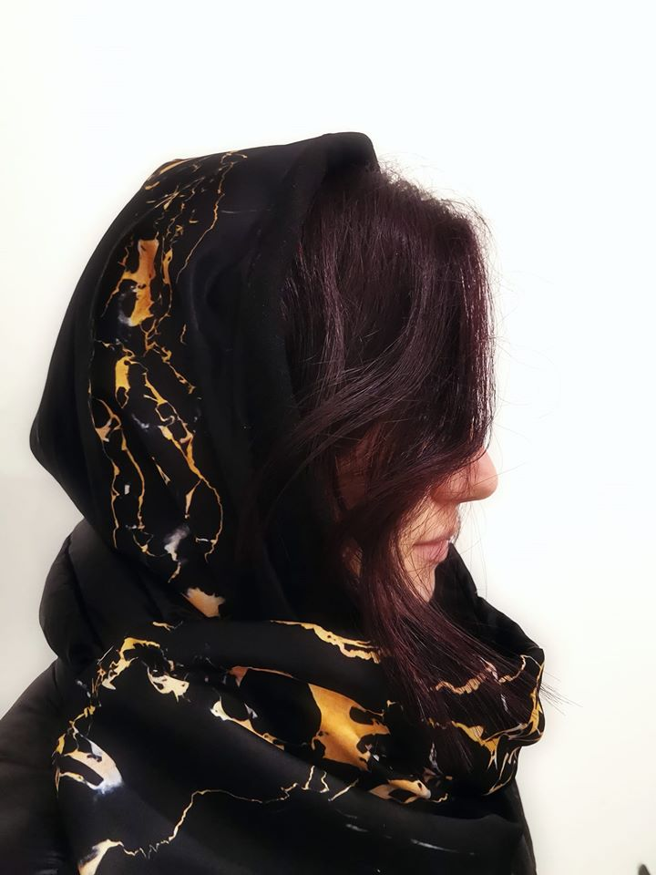 Portoro marble HUG - waterproof hood + neck warmer by l'ughetta & EVERYTHING MARBLE