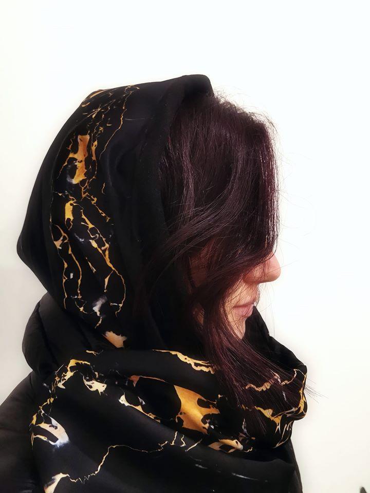 Portoro marble HUG - waterproof hood + neck warmer by l'ughetta & EVERYTHING MARBLE