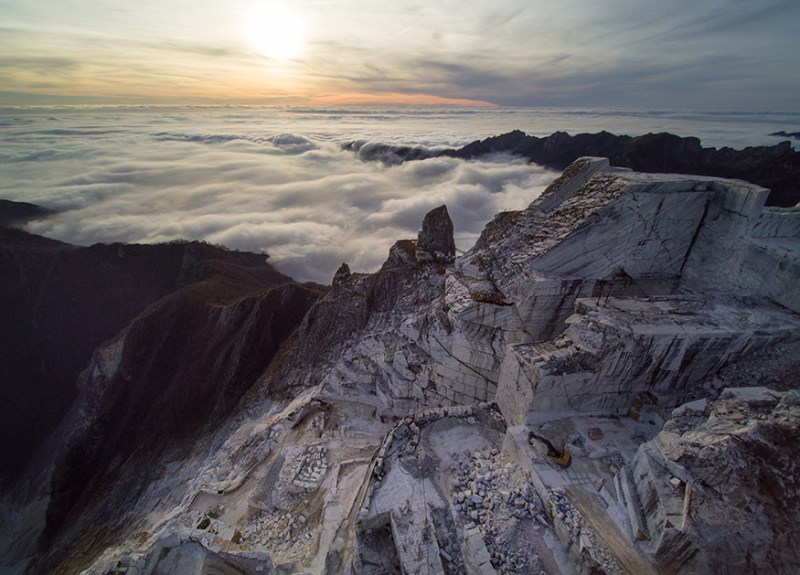 A view from the marble quarries - Carrara (Tuscany) BEST CREATIVE DESTINATION - Creative Tourism Award