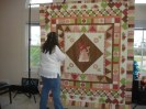 My friends did the borders on this quilt.  The little girl that received this quilt loves it!