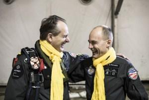 André Boschberg (li) und Bertrand Piccard