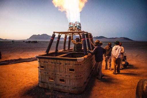 Ballonfahrt in der Wüste Namibische