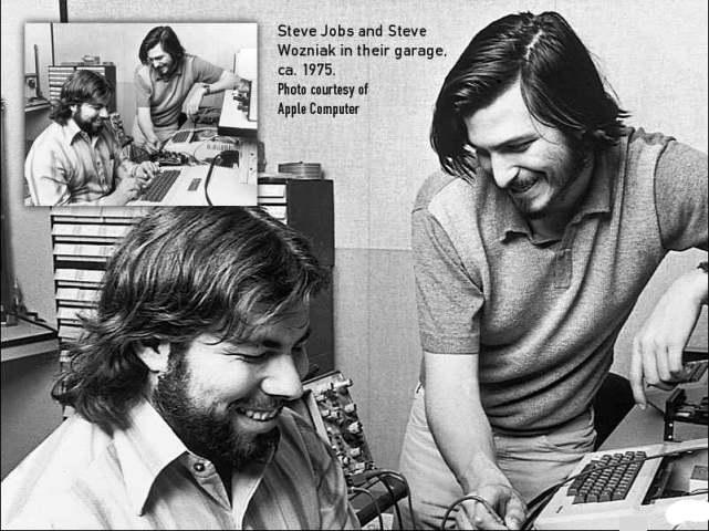Steve Jobs und Steve Wozniak: Die Zwei aus der Garage. Unternehmen sind häufig Gründungen eines kongenialen Paares