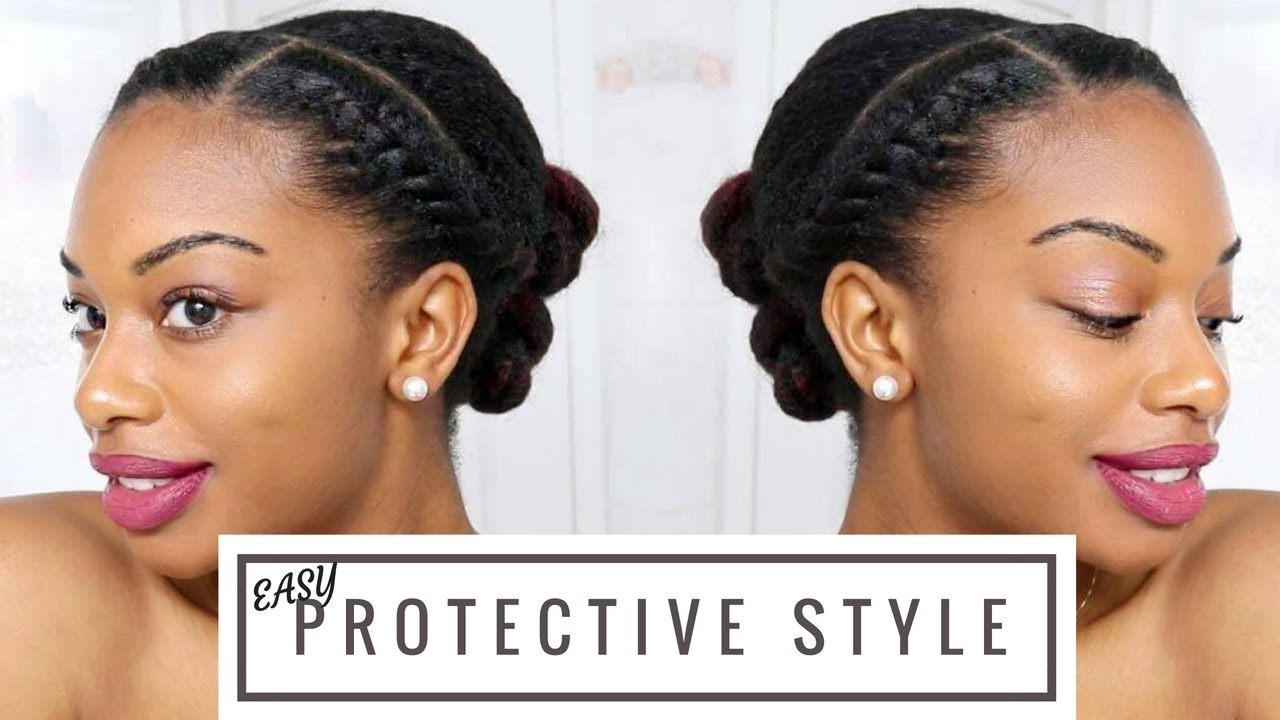 The Perfect Twisted Bun Natural Hair Relaxed Hair