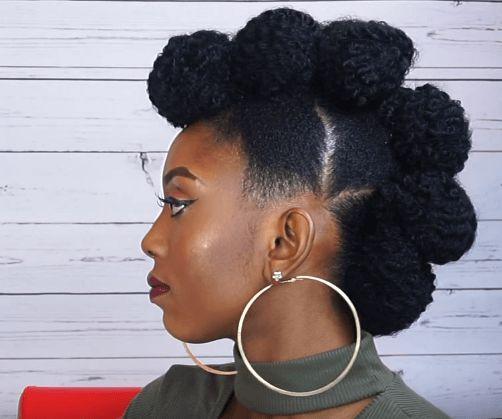 Fierce Faux Hawk Updo On Short Natural Hair Source Cynthykay Obi