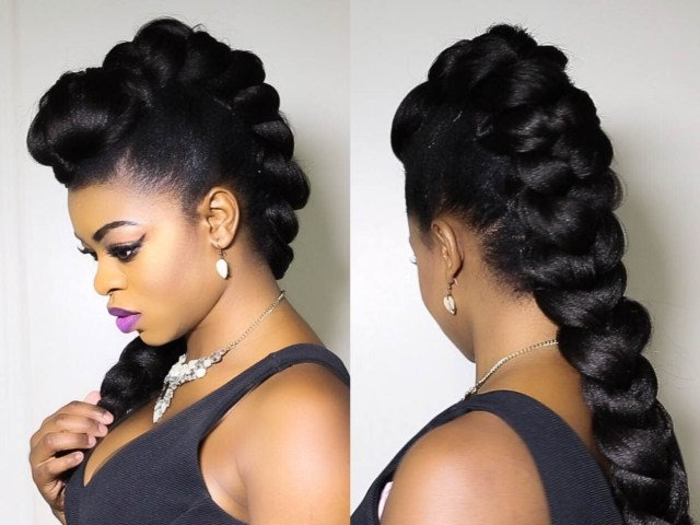 faux braided mohawk on natural hair!!!!!! - everything