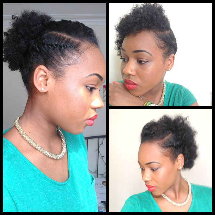 3 Quick Easy Style For Short Natural Hair Wash And Go 5th Day
