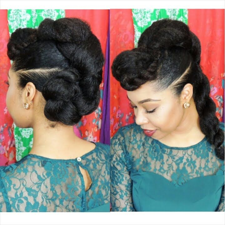 Natural Hair Protective Hairstyle Twist N Bun Everything