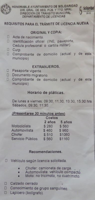 How to get your Drivers License in Mexico