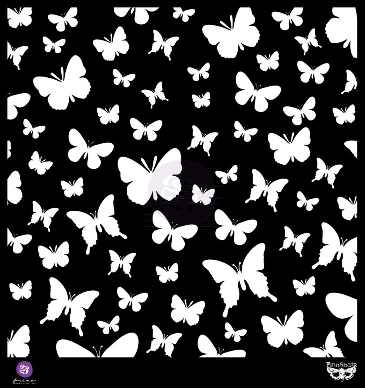 Prima 12x12 Stencil Butterflies