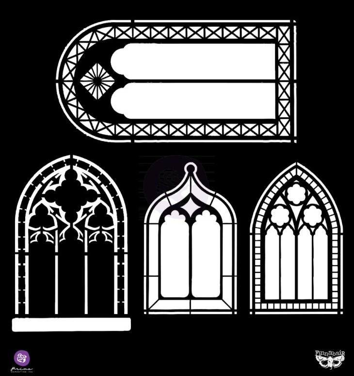 Prima 12x12 Stencils Windows