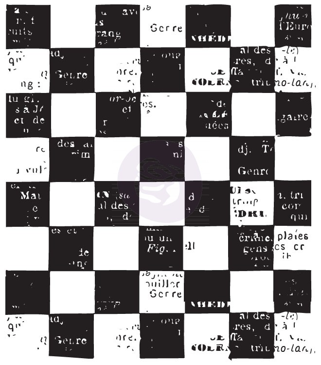 Prima Clear Stamps - Checkered