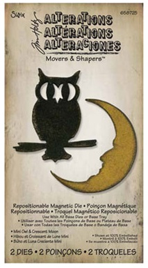 Tim Holtz Movers and Shapers Owl and Crescent
