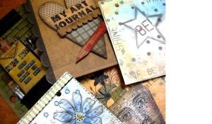 On Saturday Wendy taught art journaling