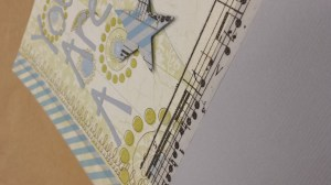 Washi Tape as a border, embellishment and flip book element.