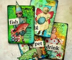 Mixed Media Altered Trading Cards