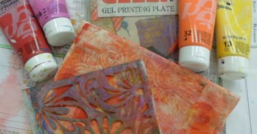 Gelli Print Pencil Case