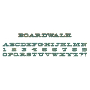 Tim Holtz Decorative Strip Boardwalk Alphabet