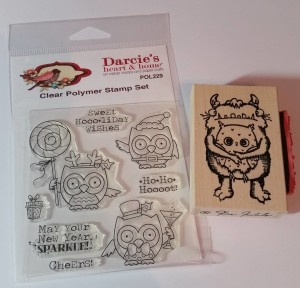 Clear Cling Stamps and Wood Mounted Rubber Stamps