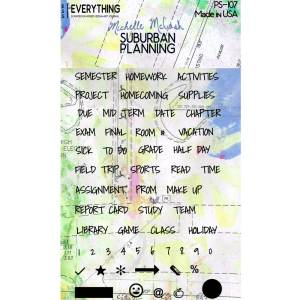 PS107 Suburban Planning Planner Stamp Set