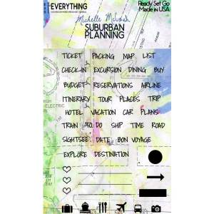Ready Set Go Suburban Planning Planner Stamp Set