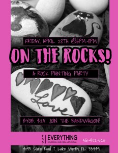 On The Rocks - Adult Rock Painting Class BYOB @ everything scrapbook & stamps | Lake Worth | Florida | United States