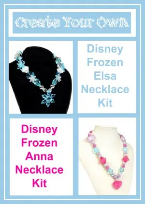 Disney Frozen Anna and Elsa Necklace Kits