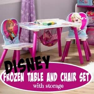 Disney Frozen Table Chair Set Storage