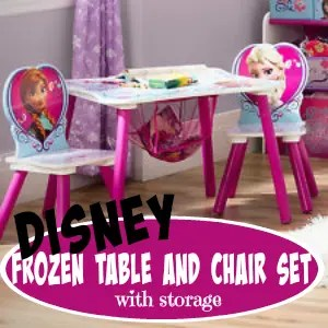 Disney Frozen Table Chair Set Storage