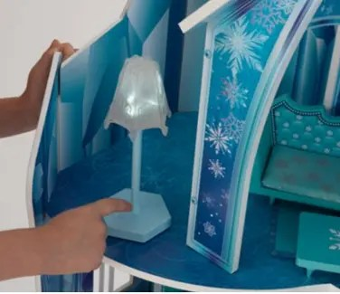 KidKraft Frozen Dollhouse Snowflake Mansion Furniture